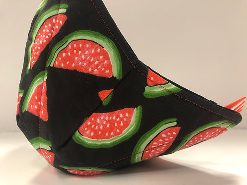 Green/ Black Watermelon Bowl Cozy