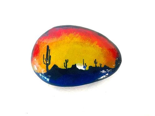 Cactus Sunrise Garden Stone