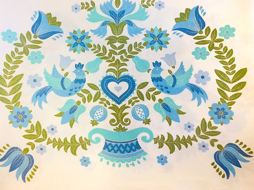 Green/Blue Bird Tablecloth