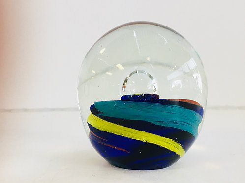 Blue, Red, and Yellow Paper weight