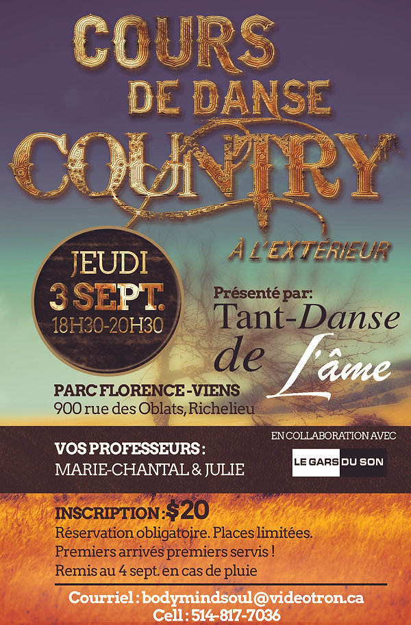 Poster Cours de danse country 3_4 septem