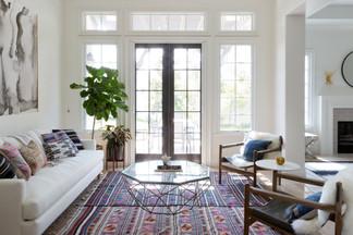Chic boho living room
