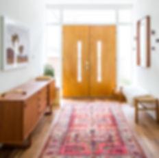 Midcentury entryway