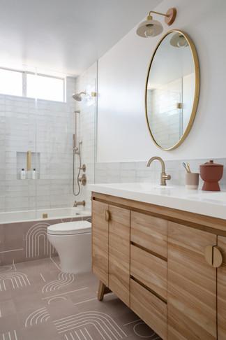 Girls bathroom vanity