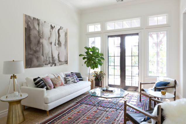 Chic boho living room