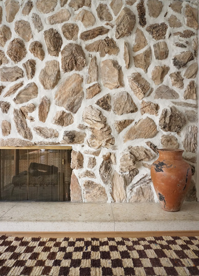An Overgrouted Stone Fireplace DIY Gone Wrong