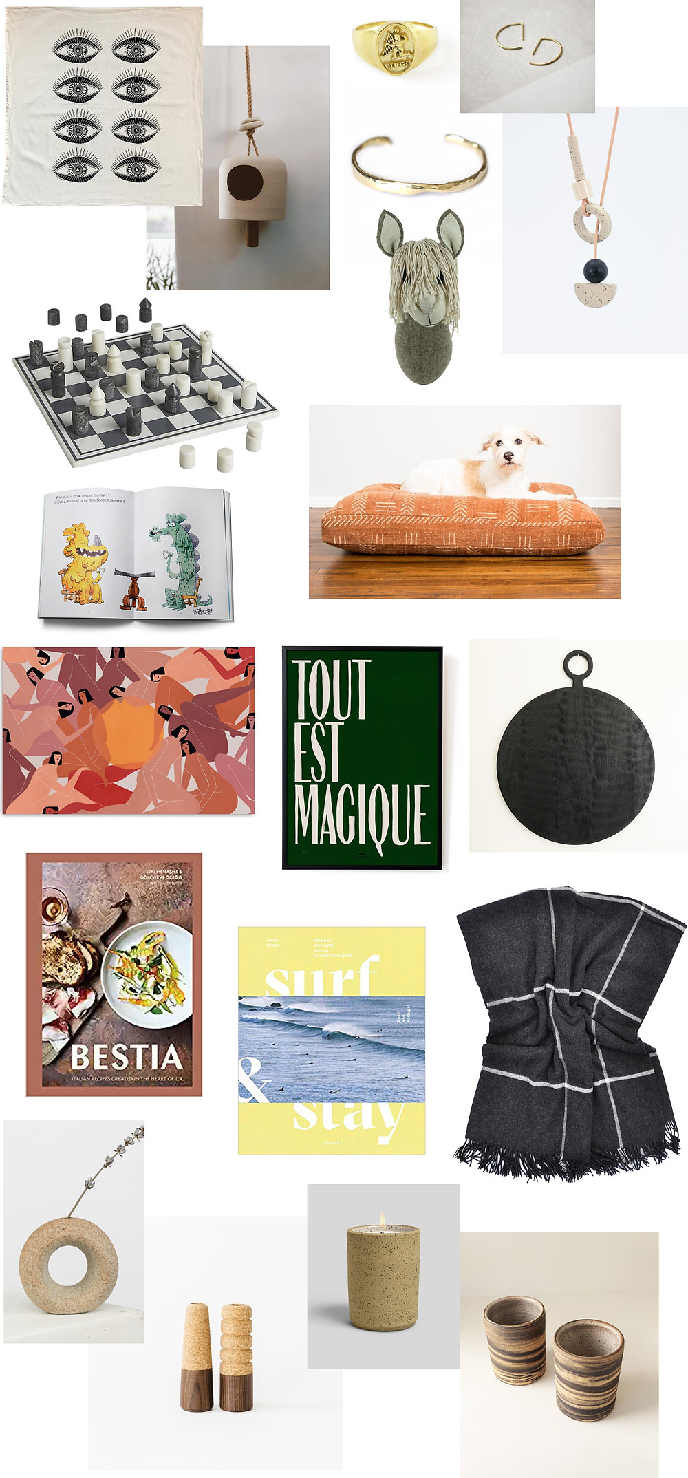 Images of gift ideas linked in the text of the blog post