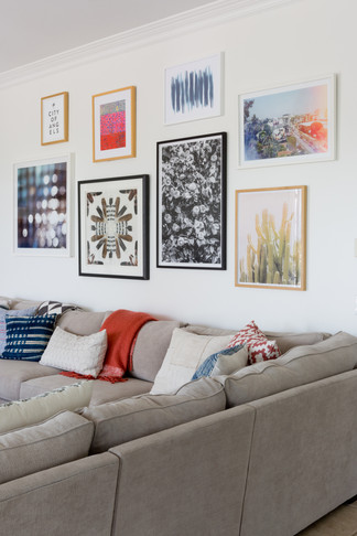Gallery wall in family room