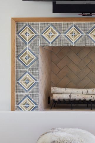 Ventura fireplace detail