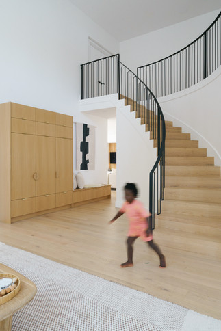 Stairs and built in storage