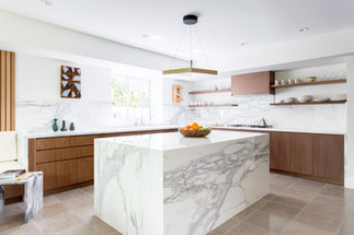 Modern art filled kitchen