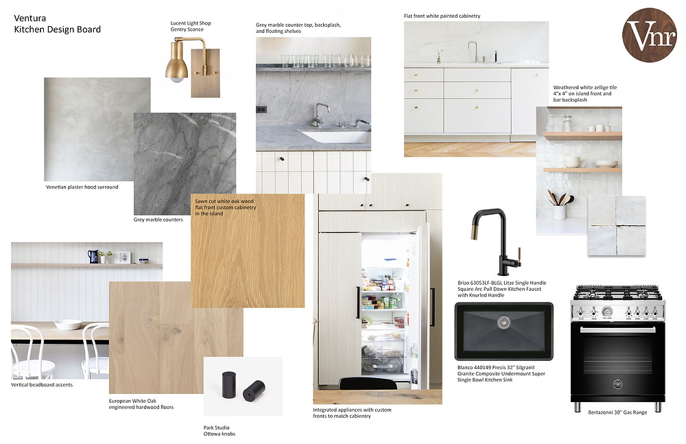 Sample design board from project work