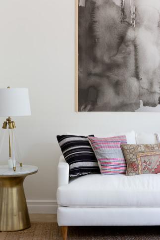 Living room sofa details