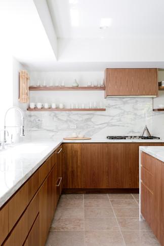 Modern art filled kitchen