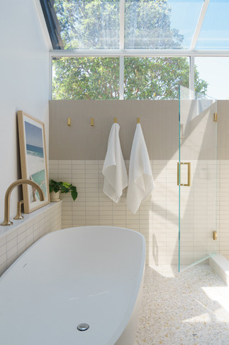 Master bath wall tile