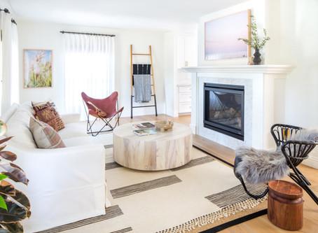 A Beachy Boho Living Room