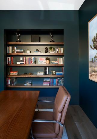 Closet turned custom built bookacse in H