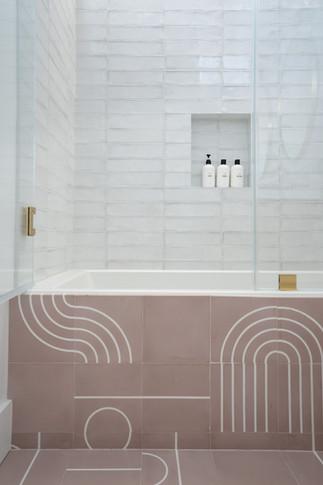 Girls bathroom tub