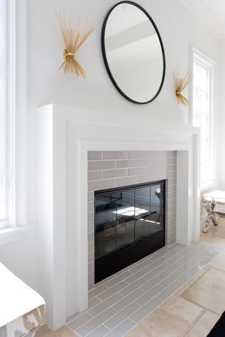 Updated fireplace facade