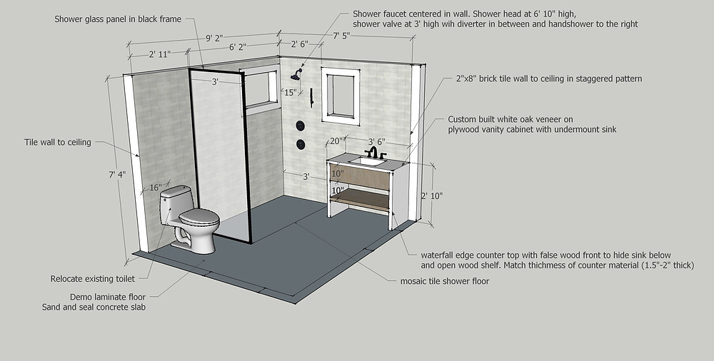 Buena Vista bathroom design