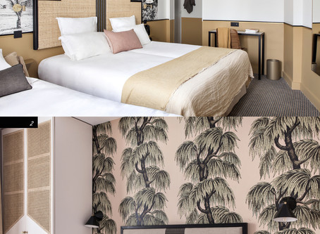 Chic Parisian Inspired Hotel Room