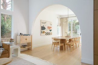 arched doorway to dining room
