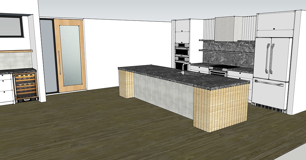 Sample kitchen rendering view