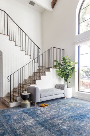 Spanish Modern entry way and staircase