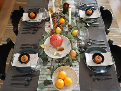 Holiday Tablescape 2020