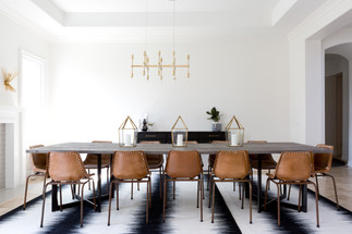 Back and White Dining Room