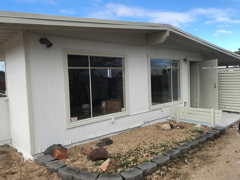 Desert cabin exterior