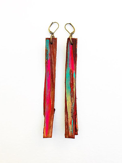 Birch Bark Fringe Earrings