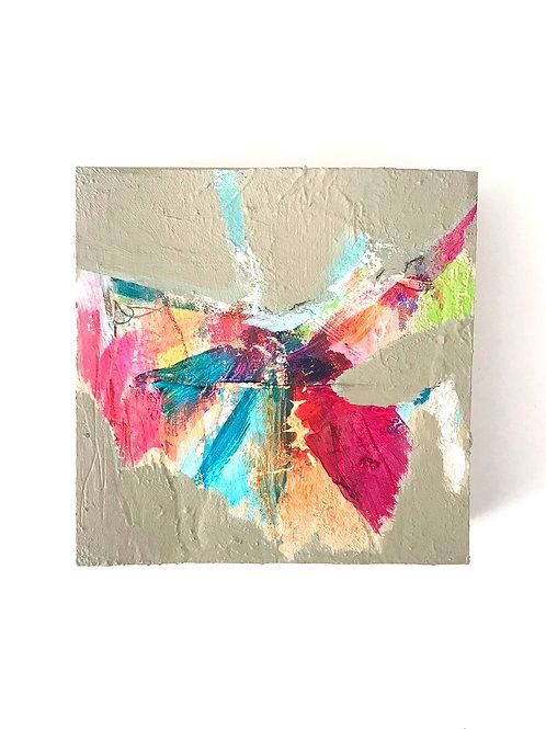 Petit Papillon - Mixed Media On Pine