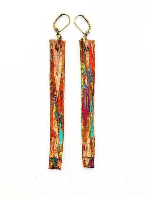 Birch Bark Fringe Earrings