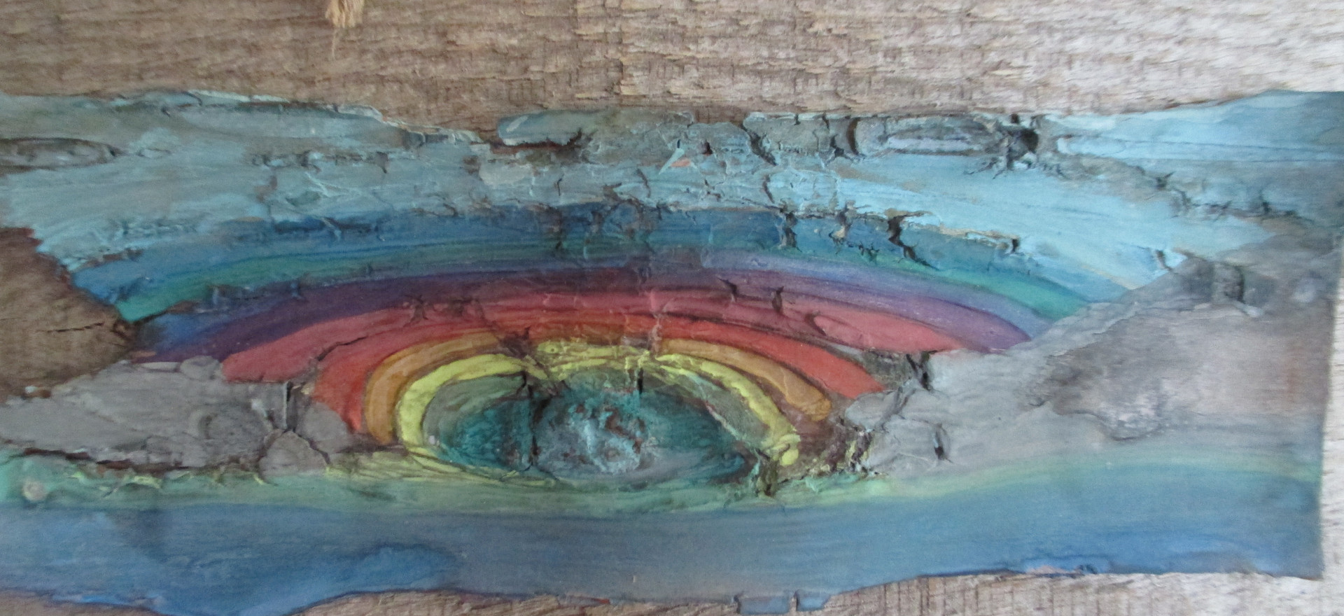 Watercolour on birch bark