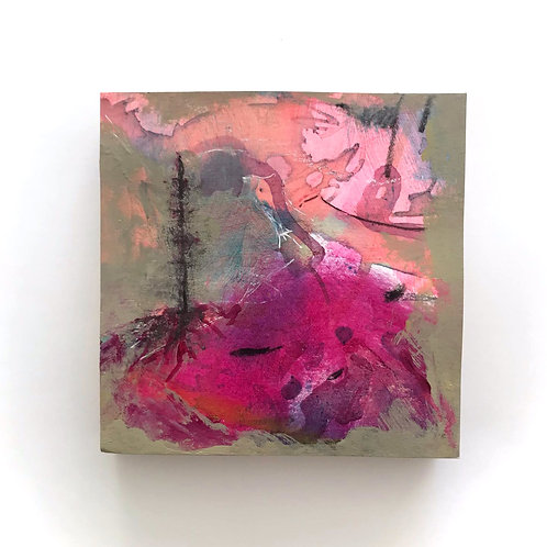 Rooted - Mixed Media On Pine