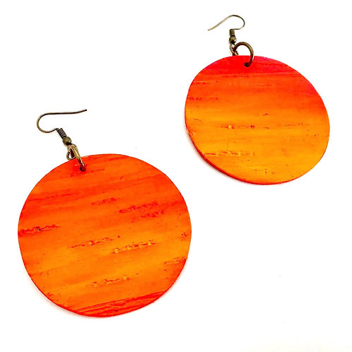Painted Birch Bark Earrings