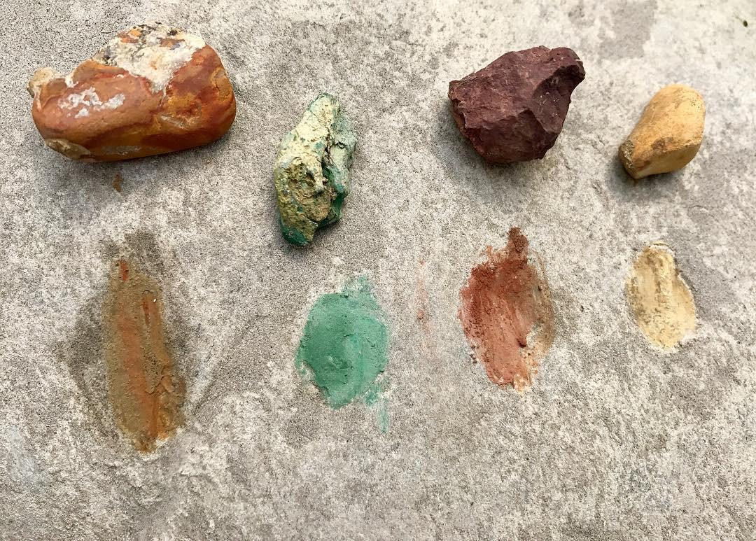 Rock pigment