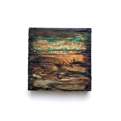 Home - Mixed Media On Pine