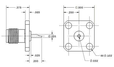 1404-0116-000 sma straight panel jack re