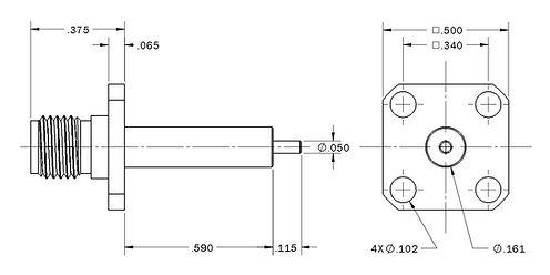 1004-9116-000 sma straight panel jack re