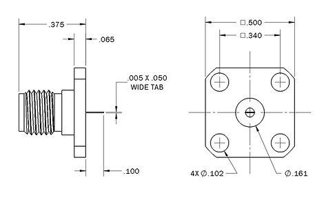 1104-9116-000 sma straight panel jack re