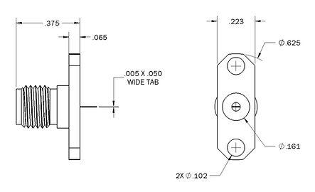 1108-9116-000 sma straight panel jack re