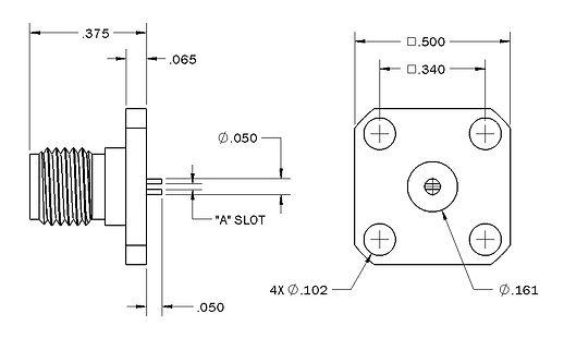1204-0116-000 sma straight panel jack re