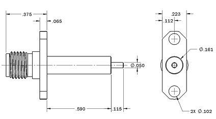 1008-9116-000 sma straight panel jack re