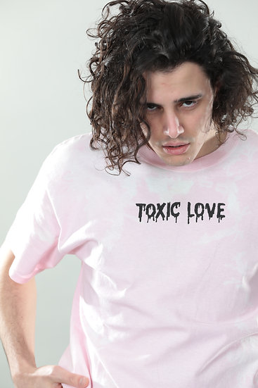 "T-shirt ""TOXIC LOVE"" Pink"