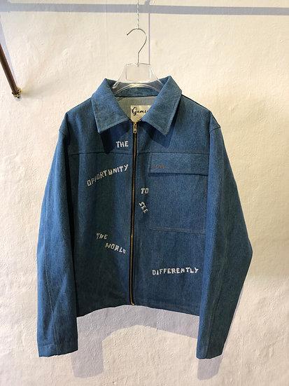 """Denim Jacket """"OPPORTUNITY"""""""