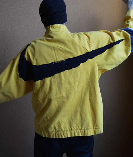"""NIKE JACKET SWOOSH WOOL/CASHMERE"" GEMINI RECYCLE PROJECT"