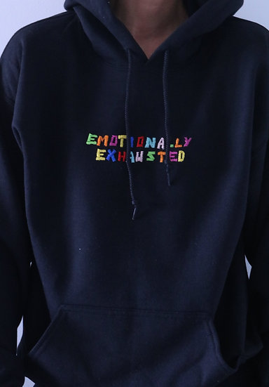 "HOODIE ""EMOTIONALLY EXHAUSTED"""