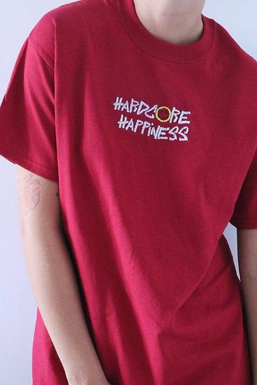"TSHIRT RED ""HARDCORE HAPPINESS"""